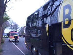 Автобус «Боруссии» перед матчем Лиги чемпионов оказался в центре поражения сработавшего взрывного устройства